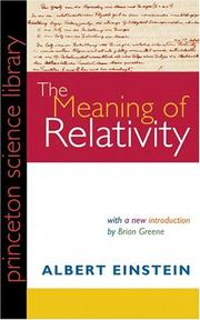 The Meaning of Relativity, Fifth Edition PDF
