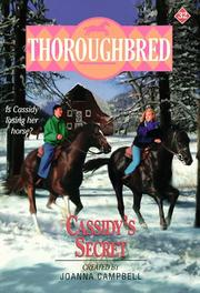 Cover of: Cassidy&#39;s Secret (Thoroughbred Series #32) by Joanna Campbell