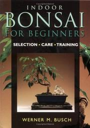 Cover of: Indoor bonsai for beginners | Werner M. Busch