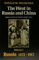 Cover of: The West in Russia and China by Donald W. Treadgold