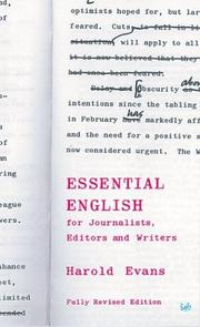 Essential English; For Journalists, Editors and Writers (Pimlico)