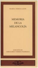 Memoria de la melancola by Mara Teresa Len