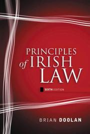 Principles of Irish law by Doolan, Brian.
