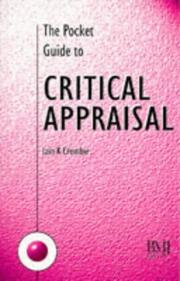 The pocket guide to critical appraisal by I. K. Crombie
