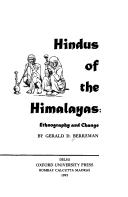 Hindus of the Himalayas by Gerald Duane Berreman