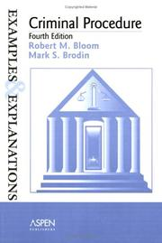 Criminal procedure by Robert M. Bloom