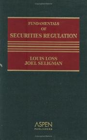 Fundamentals of securities regulation by Louis Loss