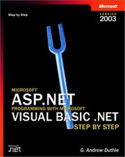 Microsoft ASP.NET Programming with Microsoft Visual Basic .NET Version 2003 Step By Step
