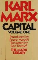 Cover of: Capital by Karl Marx