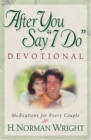 "Cover of: After You Say ""I Do"" Devotional by H. Norman Wright"