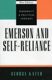 Emerson and Self-Reliance by George Kateb