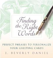 Finding the right words PDF