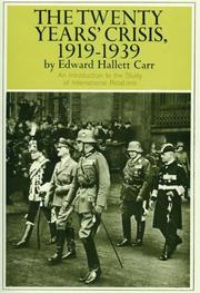 The twenty years' crisis, 1919-1939 by Carr, Edward Hallett