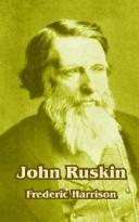 Cover of: John Ruskin by Frederic Harrison