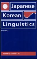 Japanese/Korean Linguistics, Volume 3 PDF
