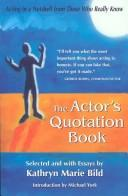 The Actor's Quotation Book PDF
