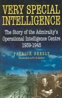 Cover of: Very Special Intelligence by Patrick Beesly