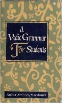 Vedic Grammar for Students by Arthur Anthony MacDonell