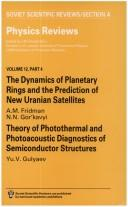 Dynamics of Planetary Rings and the Prediction of New Uranian Satellites PDF