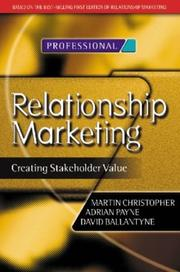 Relationship marketing by Christopher, Martin.