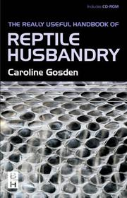 Really Useful Handbook of Reptile Husbandry PDF