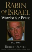 Rabin of Israel by Slater, Robert
