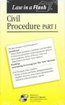 Civil Procedure I Law in a Flash (flashcards)