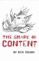 The Shape of Content (The Charles Eliot Norton Lectures) PDF