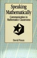 Speaking mathematically by David Pimm