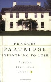 Everything to lose by Frances Partridge