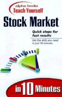 Alpha Books Teach Yourself Stock Market in 10 Minutes PDF