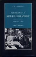 Reminiscences of Rimsky-Korsakov by V. V. Yastrebtsev