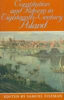 The Impact Constitution and reform in eighteenth-century Poland PDF