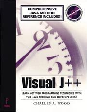 Cover of: Visual J++ by Charles A. Wood