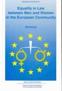 Equality in Law Germany (Equality in Law Between Men and Women in the European Community) PDF