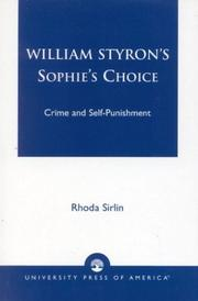 William Styron's 'Sophie's Choice' by Rhoda Sirlin