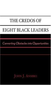 The Credos of Eight Black Leaders PDF