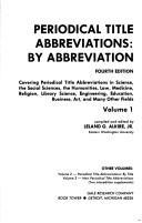 Periodical Title Abbreviations by Abbreviation PDF