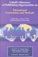 Cabells Directory of Publishing Opportunities in Educational Curriculum and Methods