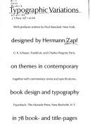 Typographic variations by Hermann Zapf