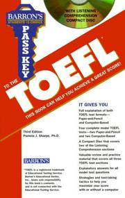 Pass key to the TOEFL by Pamela J. Sharpe