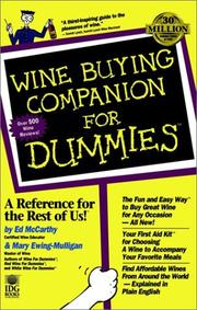 Wine buying companion for dummies PDF
