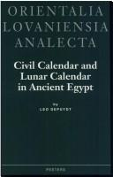 Civil calendar and lunar calendar in ancient Egypt by Leo Depuydt