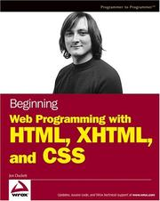 Beginning web programming with HTML, XHTML, and CSS PDF