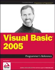 Visual Basic 2005 programmer's reference PDF