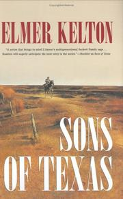 Cover of: Sons of Texas by Elmer Kelton