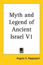 Myth and Legend of Ancient Israel PDF