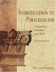 Introduction to paralegalism by William P. Statsky