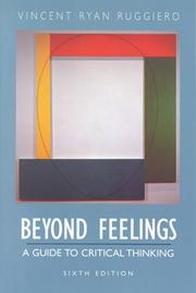 Beyond feelings by Vincent Ryan Ruggiero