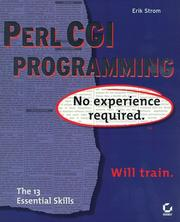 Perl CGI programming by Erik Strom